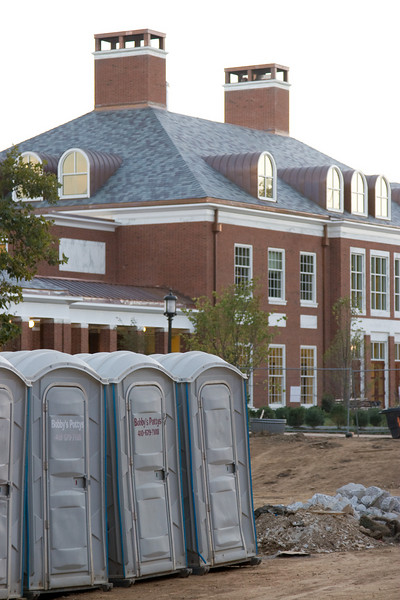 Bobby's Pottys, JHU (next to brand-new, nearly completed Decker Quadrangle), Baltimore, MD