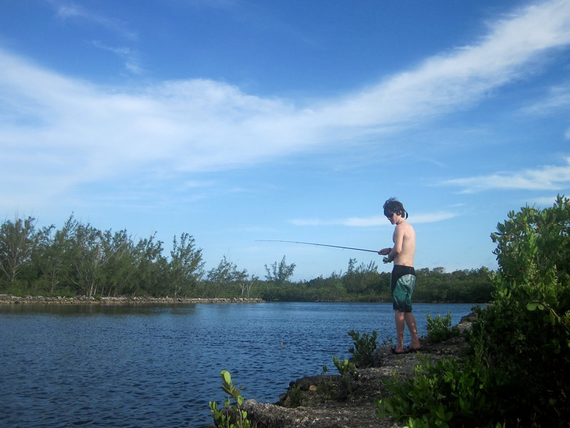 fishing at the quarry