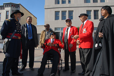 Congresswoman Eleanor Holmes Norton honors Tuskegee Airmen –Major L. Anderson & William Fauntroy, Jr.