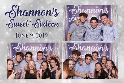 Shannon's Sweet 16 photo station