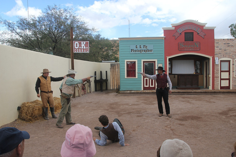 Tombstone - Gunfight at the OK corral re-enactment.  Fun!