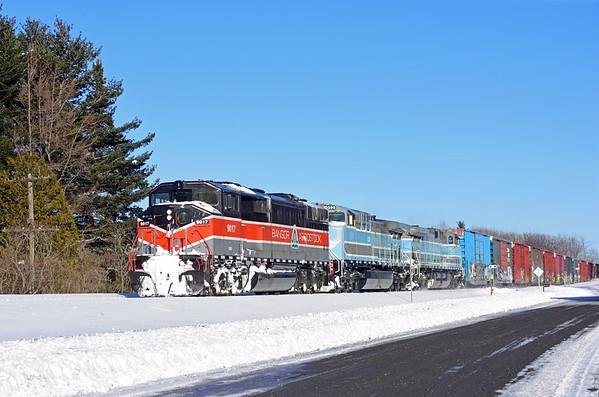 Central Maine & Quebec Job 1, Brookport, Quebec, February 14 2019.