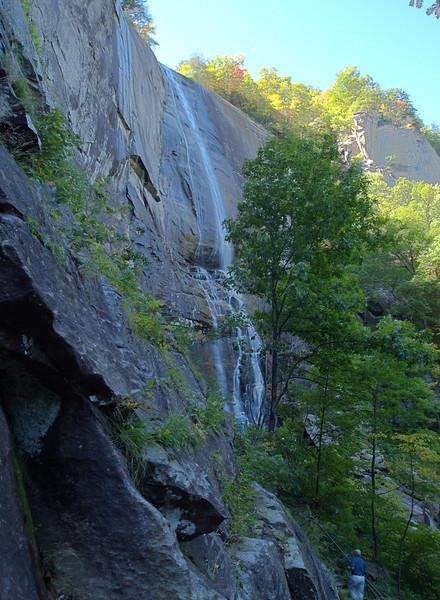 Hikcory Nut Falls at Chimney Rock SP.