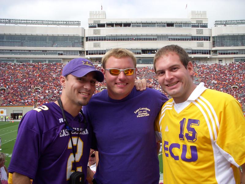 9/1/2007 - ECU @ Virginia Tech - Chris Webster, JG Ferguson, Jon Deutsch