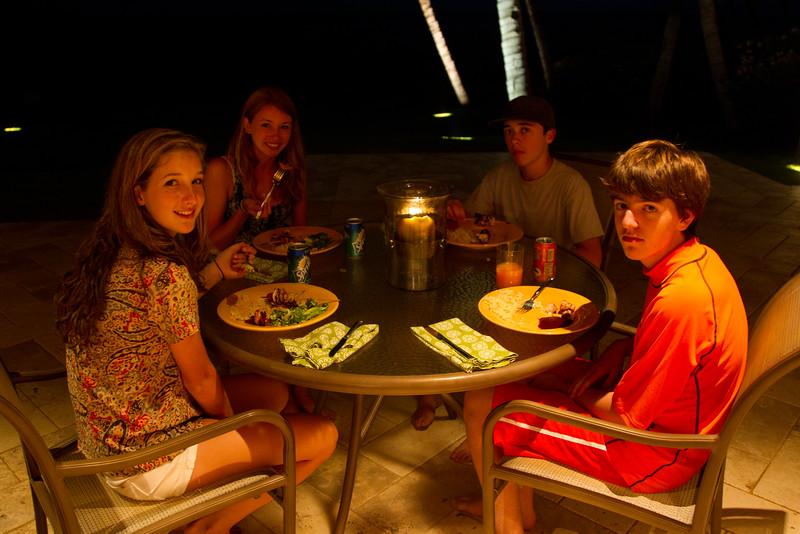 2011-08-11-0001-Maui with Hahns-Hale Ohia-Dinner with Lutton:Mathat-Elaine-Elena Beaulieu-Eliot Mathat-Jeremy.jpg