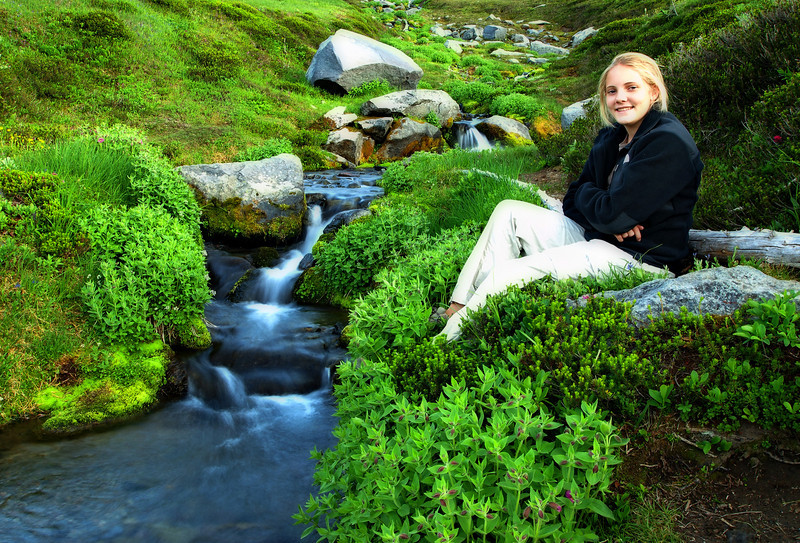 Emily - first evening in Summerland Meadow