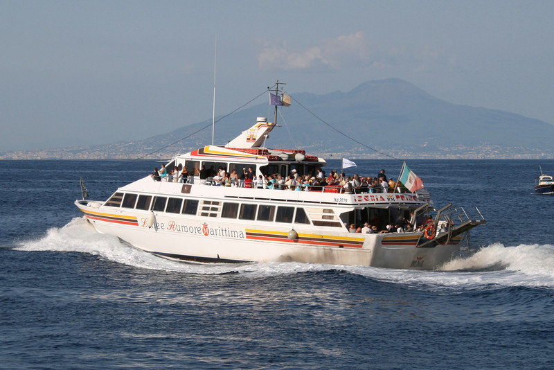 M/V ISCHIA PRINCESS departing from Capri to Ischia.