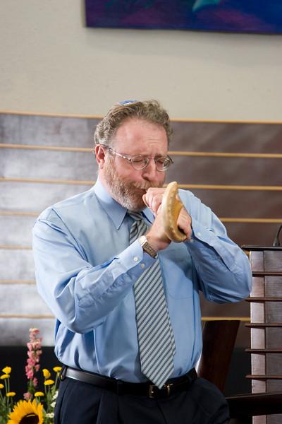 Opening Shofar blast (#1) -- Siyum Ha Torah -- Beth El's Project 613: Writing a Torah
