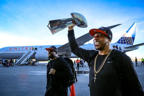 2-8-16 Super Bowl 50 Champion Denver Broncos Come Home