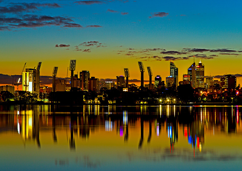 Image Title: Perth City 5.  Image No. kee7758b View From Burswood