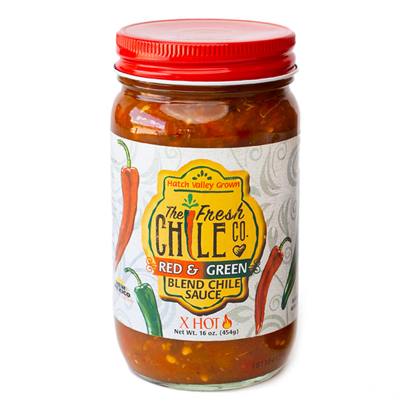 Fresh Chile Company - Hatch Valley Grown - 16 oz Jar - Red Green Blend - Extra Hot.jpg