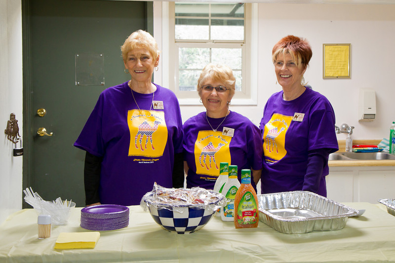 Jane, Donna, and Bonni in the kitchen at March Madness 2012.