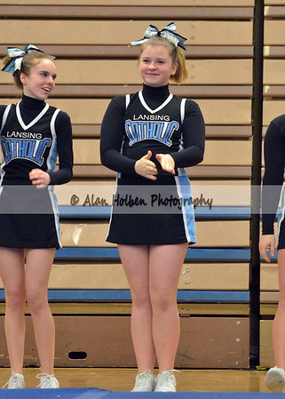 Cheer at LCC - Lansing Catholic JV - Round 2 - Jan 25