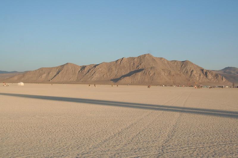 Long desert shadows