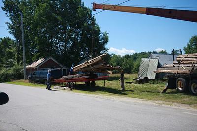 Barn coming down
