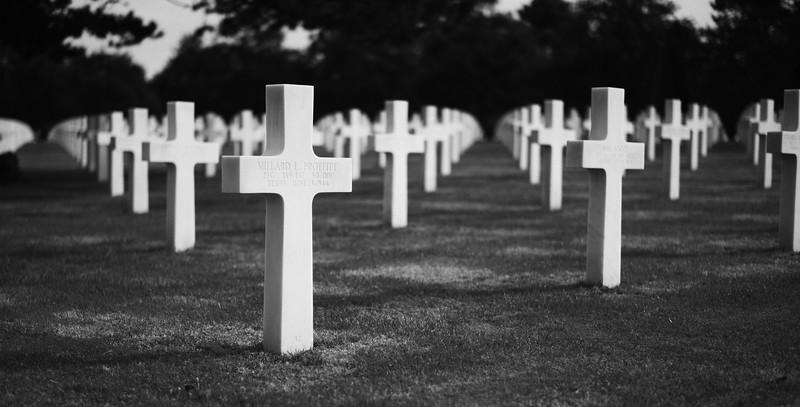 Normandy American Cemetery - overlooking Omaha Beach.