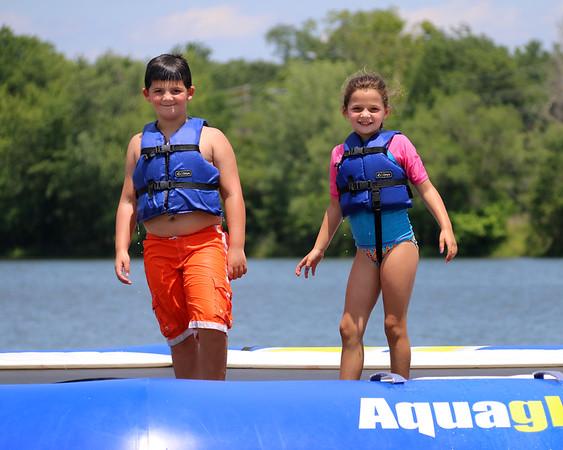 7-3-17 Lake Fun Jack and Rylie