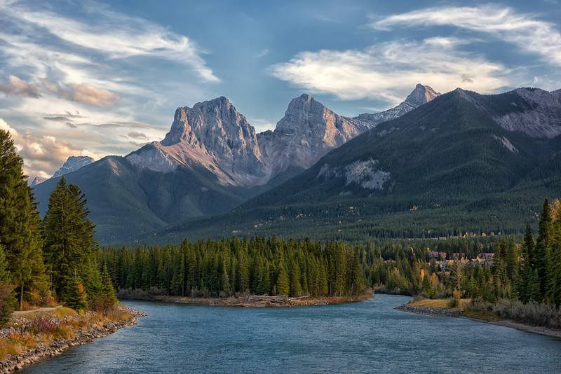 The Three Sisters Rising above the Bow River