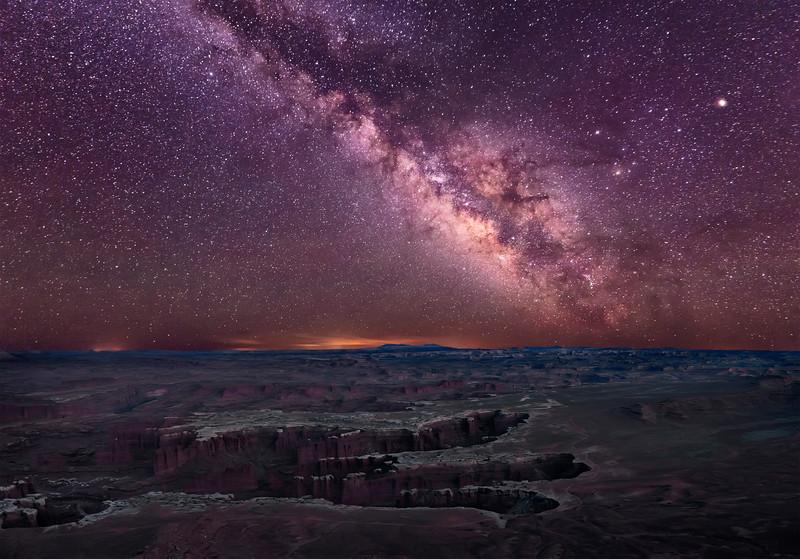 Burning Milky Way Over Canyonlands