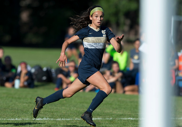 09/17/19 Wesley Bunnell | StaffrrBristol Eastern vs Newington soccer on Tuesday afternoon at Newington High School. Newington's Emma dos Santos (5).