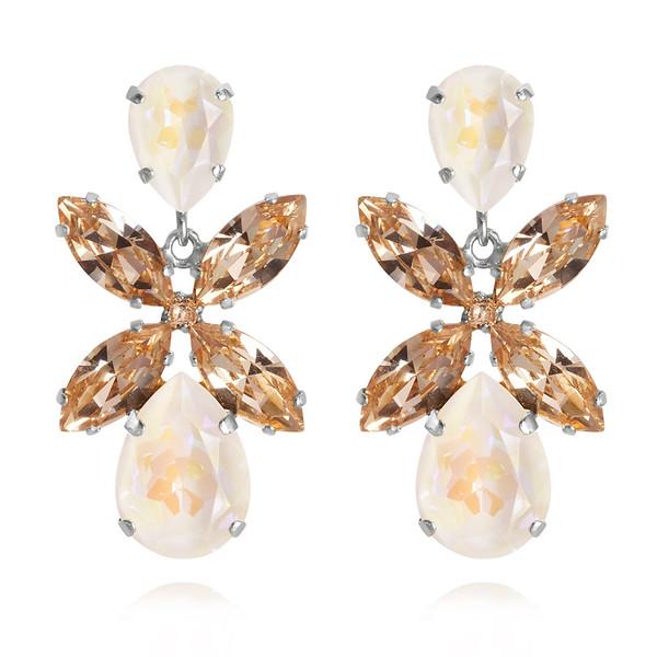 Dione Earrings / Light DeLite + Silk Rhodium
