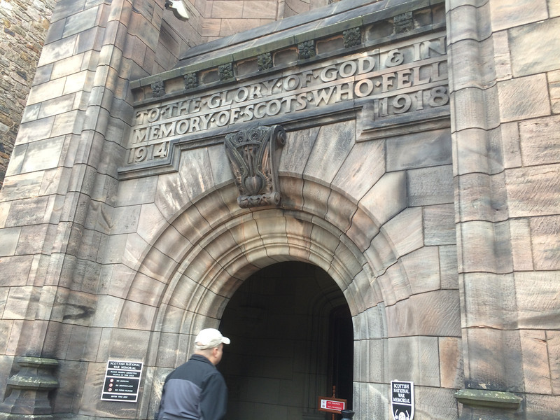 Entrance into the war memorial at the castle.