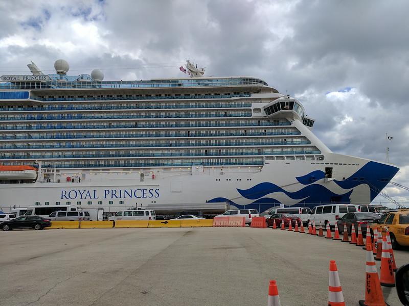 Boarded Royal Princess at 1 PM