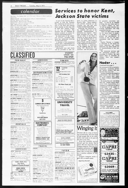 Daily Trojan, Vol. 62, No. 116, May 04, 1971