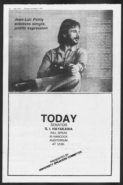 Daily Trojan, Vol. 75, No. 50, December 07, 1978