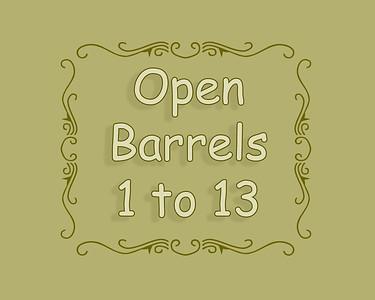 SSBR 2018 Open Barrels 1 to 13
