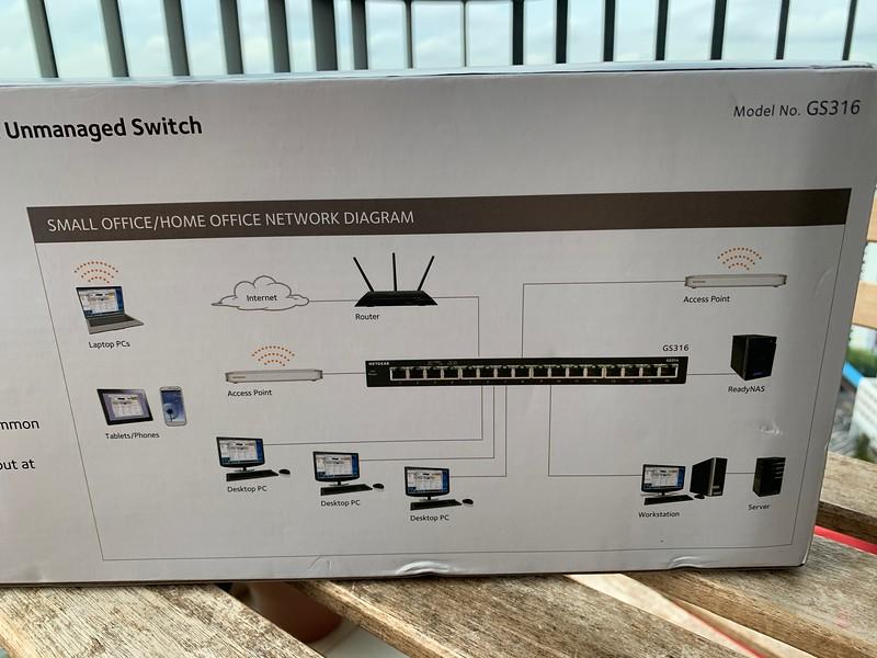NETGEAR GS316 16-Port Gigabit Switch