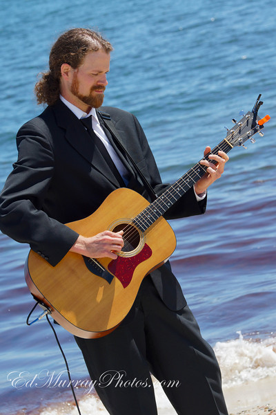 Sea Side Strum: I attended my friend's wedding over the weekend. The ceremony was held on a beach in Cape Cod. I happened to have my camera with me (Shocking as it sounds) so I snapped a few shots. My buddy Paul was the official photographer - I can't wait to see his shots! - Happy Monday!!!!  6/17/2013