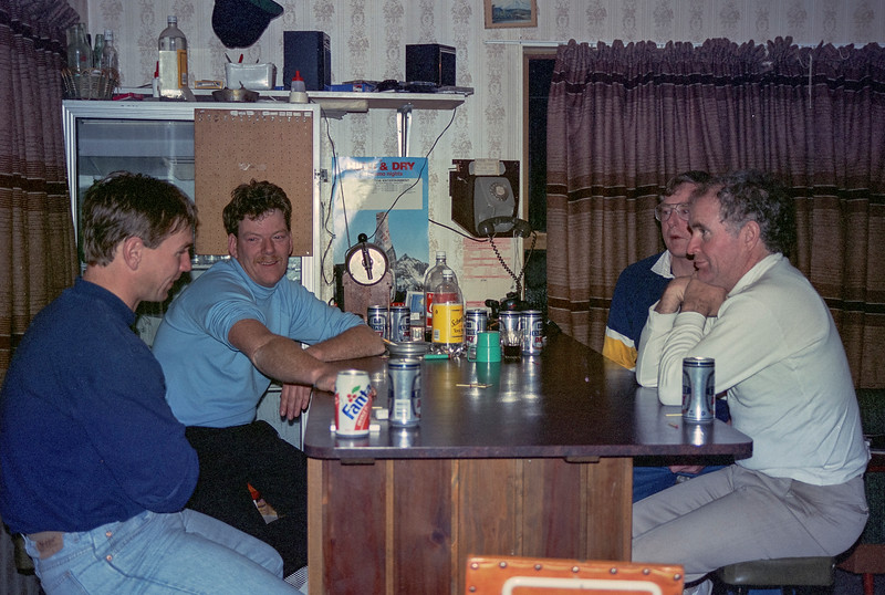 1991 07 183  Wayne Tim Greg and Graeme at Ohakune Lodge NEG.jpg