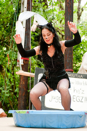 Cat and Bird Vaudeville Extravaganza at the Oregon Country Fair, Day 2