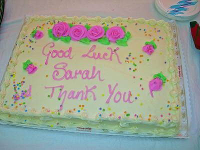 Sarah Sanchez Farewell