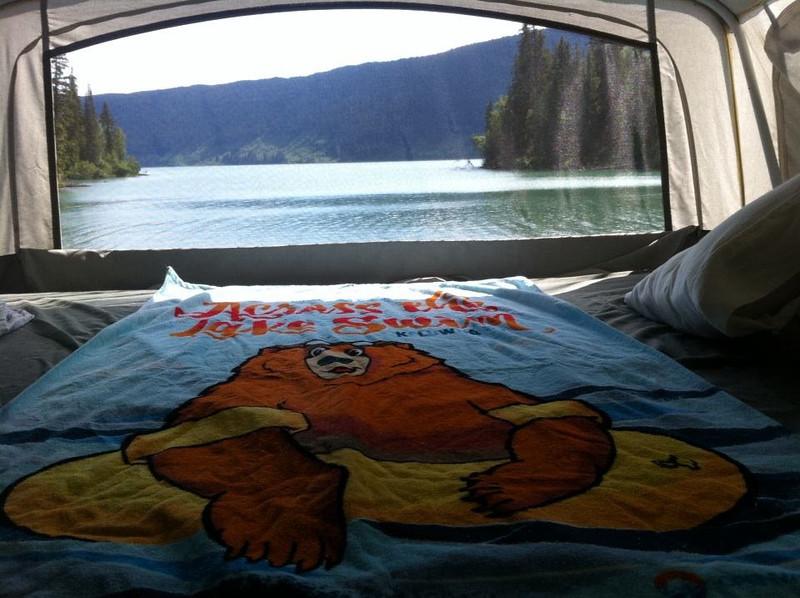 Irene's Towel at Meziadin Lake, BC