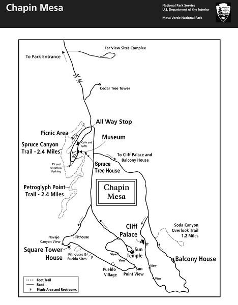 Mesa Verde National Park (Chapin Mesa Area)