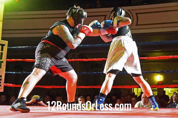 Bout 12:   Christian Juresic, Blue Gloves, Against The Ropes BC, Eastlake, OH   -vs-   Bryan Gedeon, Red Gloves, Wreastling Factory, Lakewood, OH,   Heavy Weight, Novice