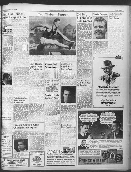 Daily Trojan, Vol. 30, No. 113, April 12, 1939