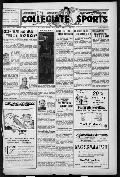 Daily Trojan, Vol. 17, No. 53, December 02, 1925