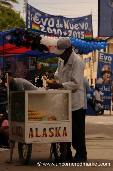 Every Political Rally Needs Ice Cream - Tupiza, Bolivia