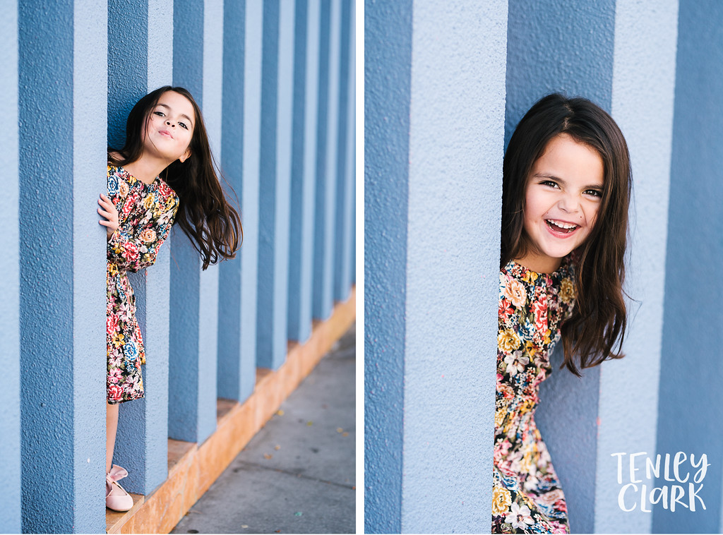 Kids model headshot portfolio session for JE Kids in Downtown San Jose by Tenley Clark Photography.