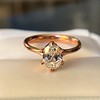 1.05ct Oval Cut Diamond Solitaire, GIA H SI1 5