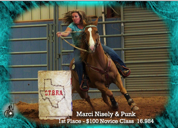 It's easy to match your shirt / horse's boots / saddle pad with a background border - nothing extra - but by special request.