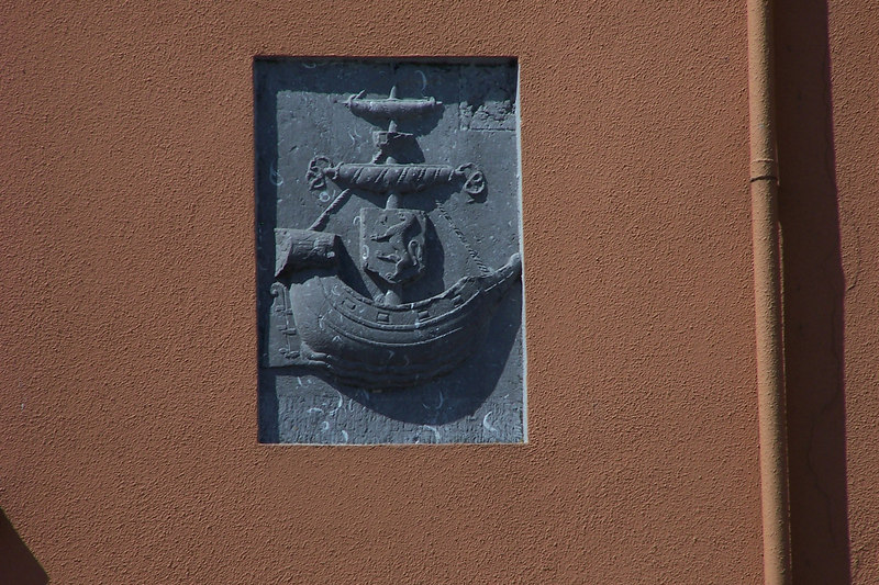 A galleon in full sail (the traditional arms of Galway)