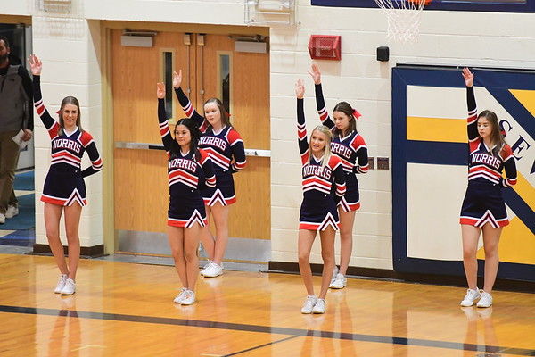Cheerleaders - Crete Districts Basketball game