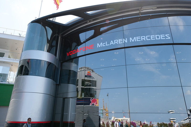 Racing stations in 2011 European Grand Prix - Valencia, Spain