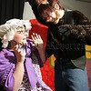 "Nicola McGarry (Granny) and Brendan O'Hare (Wicked Wolf), preforming arts students who preformed ""Red Riding Hood in Fairyland"" to local primary schools. 06W51N2"