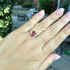 2.17ct Diamond & Spinel 3-Stone Ring 9