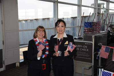 10-31-2011 Cong. Gold Medal - Airport Arrival